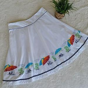 Liz Claiborne full white skirt